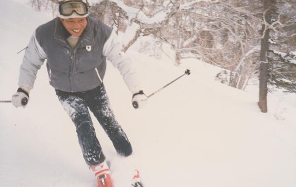 スキーを楽しむ前院長